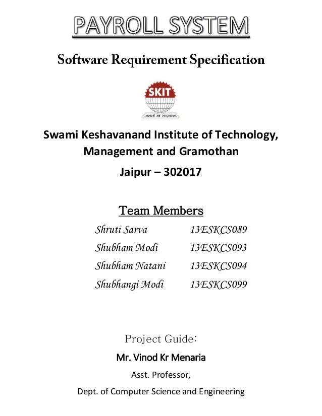 payroll management system pdf