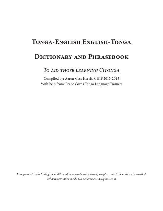 tongan dictionary download