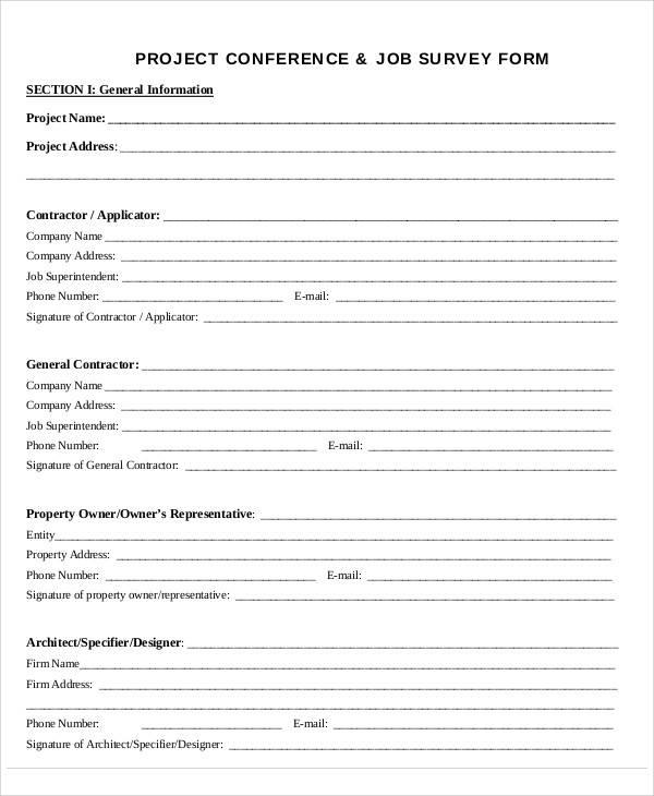 survey project sample