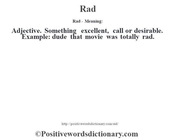 rad dictionary