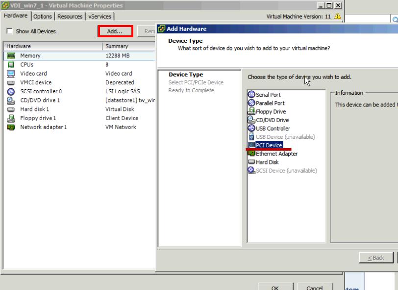 vmware 5.5 pci device passthru documentation