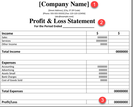 proof of income statement sample