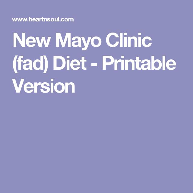 mayo clinic diet manual pdf