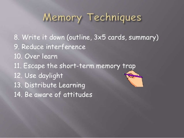 memory techniques for studying pdf