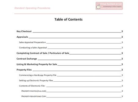 standard operating procedures manual for hotels