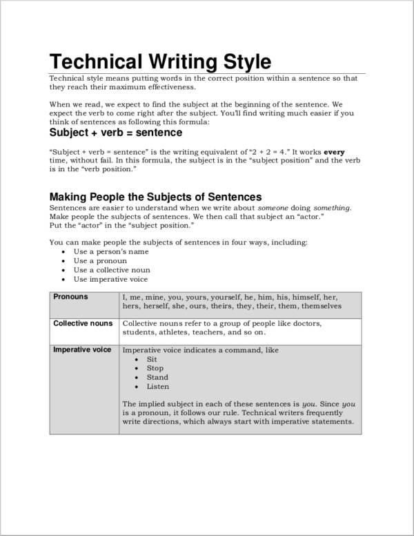 writing style guide pdf