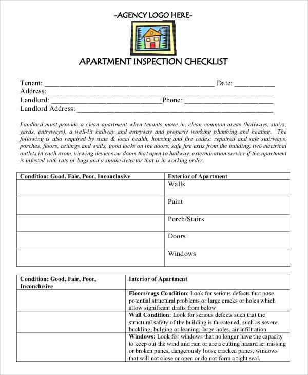new apartment checklist pdf