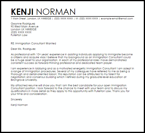 sample cover letter immigration new zealand