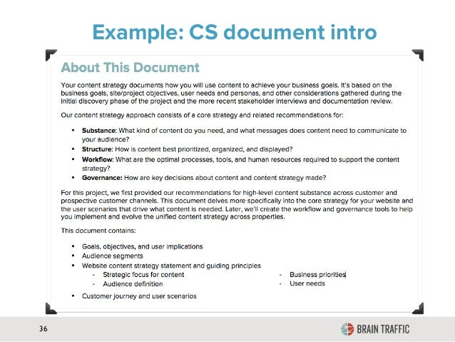 website documentation example