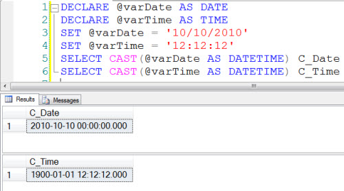 sample declare in mysql