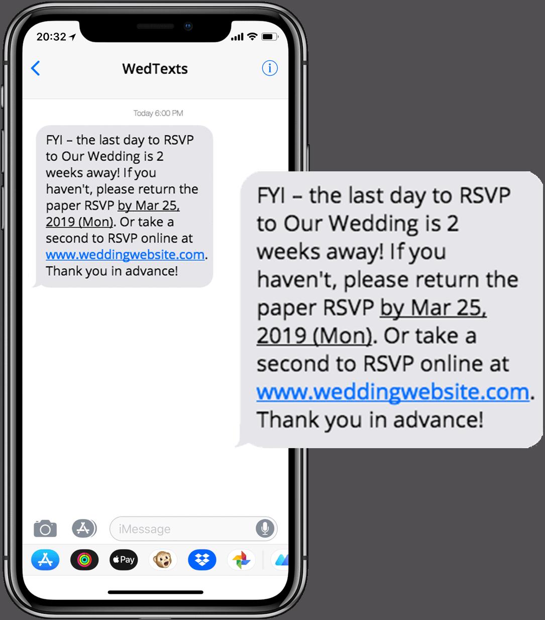 reminder message sample