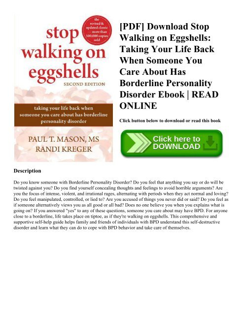 stop walking on eggshells book pdf