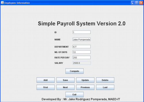 payroll management system pdf