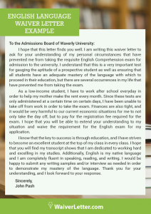 sample letter of verification of english proficiency