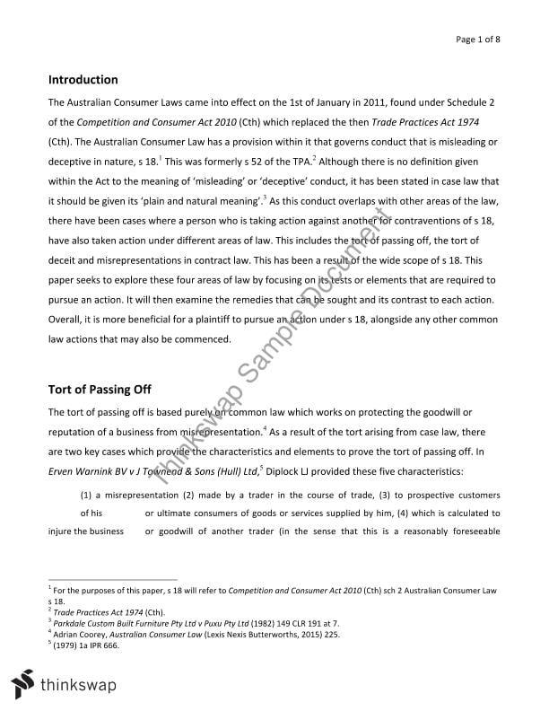 misrepresentation contract law pdf