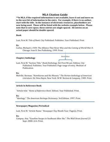 mla book citation guide