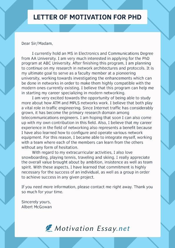 motivation letter for phd application pdf