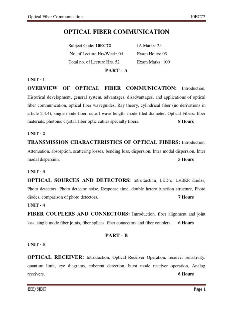 optical fiber communication pdf