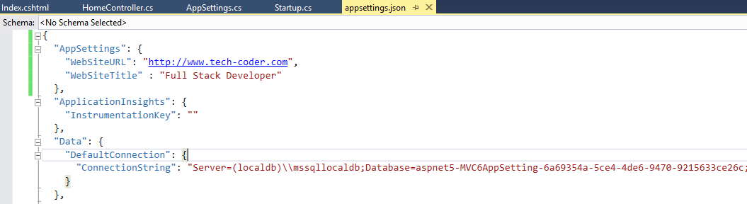 read web.config appsettings to dictionary