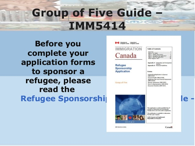 refugee sponsorship application