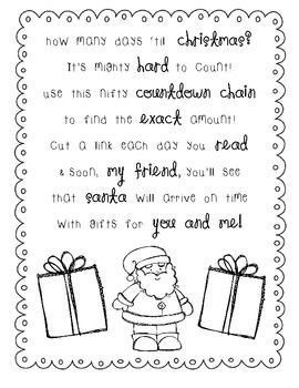 santas countdown instructions