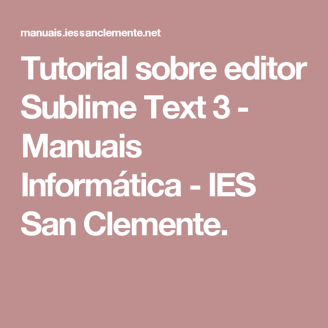 sublime text 3 tutorial pdf