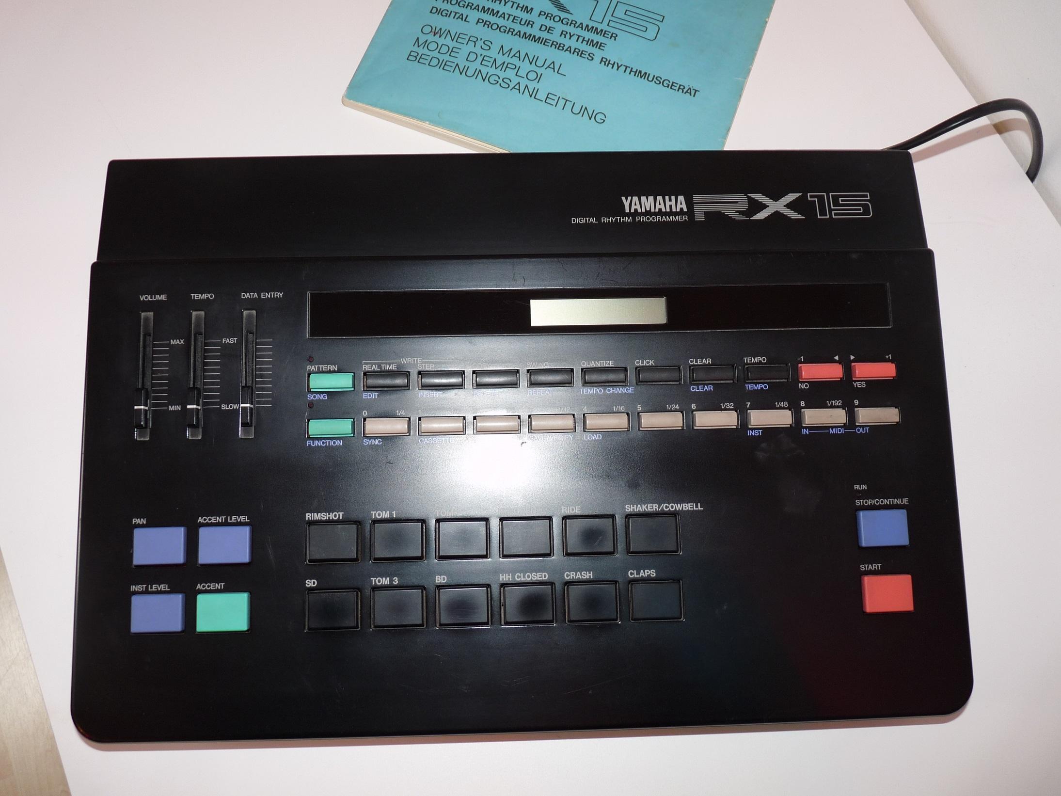 yamaha rx15 manual